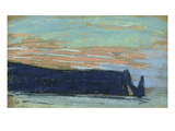 The Cliff at Etretat, C.1885 (Pastel) Giclee Print by Claude Monet
