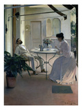 Open Air Interior, Barcelona, 1892 Giclee Print by Ramon Casas i Carbo