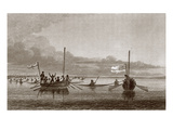 Eskimaux Coming Towards the Boats in Shoalwater Bay, July 7, 1826 Giclee Print by George Back