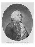 Friedrich Wilhelm Ii of Prussia (Engraving) Giclee Print by Johann Heinrich Schroder