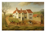 John Sidey and His Hounds at a Farmhouse Near Hadleigh, Suffolk Giclee Print by James I Dunthorne