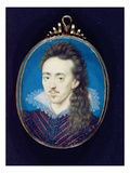 Dudley North (1581-1617) 3rd Baron North, 1608-10 (Bodycolour on Vellum Laid onto Card) Giclee Print by Isaac Oliver