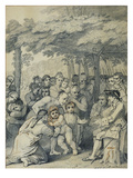 The Indians Delivering Up the English Captives to Colonel Bouquet Near His Camp Giclee Print by Benjamin West