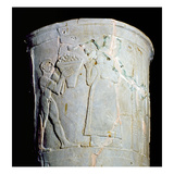 Vase Depicting a Man Carrying a Bowl of Fruit (Earthenware) Lámina giclée por  Mesopotamian
