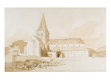 Notre Dame Sur L'Eau, Domfront, Normandy, C.1820 (Brown Wash and Graphite on Paper) Giclee Print by John Sell Cotman