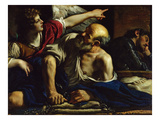 St. Peter Freed by an Angel (Oil on Canvas) Giclee Print by  Guercino