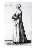 London Citizen's Daughter, 1643 (Etching) Giclee Print by Wenceslaus Hollar