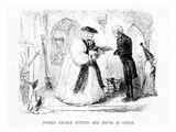 Mother Church Putting Her House in Order, Cartoon from 'Punch', 1850 (Engraving) Giclee Print by  English