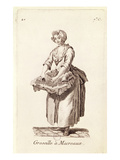 Gooseberries for Mackerel', the Gooseberry Seller, from 'Petits Metiers De Paris' (Engraving) Giclee Print by  French