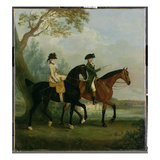 The Hon. Marcia Pitt Riding with Her Brother, the Hon. George Pitt (Later 2nd Lord Rivers) Giclee Print by Thomas Gooch