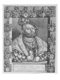 Johann Friedrich I, Elector and Duke of Saxony, 1543 (Engraving) Giclee Print by Georg Pencz