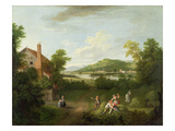 Landscape with Farmworkers, c.1730-40 Giclee Print by George Lambert