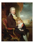 Edward George Lind and His Son, Montague, (Oil on Canvas) Giclee Print by Sir William Beechey