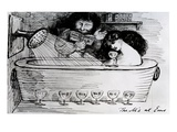 The M's at Ems, 1869 (Pen and Ink on Paper) Giclee Print by Dante Charles Gabriel Rossetti