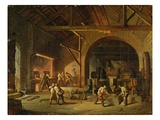 Interior of an Ironworks, 1850 Giclee Print by Godfrey Sykes