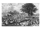 Woburn Sheepshearing, Engraved by Thomas Morris, 1811 (Engraving) Giclee Print by George Garrard