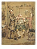 The Barber, c.1760-69 Giclee Print by Marcellus the Younger Laroon