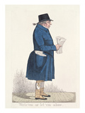 Write 'Em or Let 'Em Alone', from 'City Characters', 1824 (Coloured Etching) Giclee Print by Richard Dighton