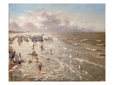 The Beach at Ostend, 1892 (Oil on Canvas) Giclee Print by Adolphe Jacobs