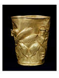 Beaker Decorated with Winged Bulls Flanking a Tree, from Marlik, Iran, C.12th-11th Century BC Giclee Print by  Elamite