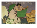 Poster Advertising Codorniu Champagne (Colour Litho) Giclee Print by Ramon Casas i Carbo