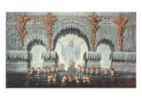 Muehleborn's Water Palace, Set Design for a Production of 'Undine', (W/C on Paper) Giclee Print by Karl Friedrich Schinkel