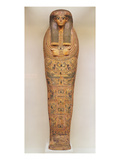 Egyptian Coffin of an Unnamed Person Decorated with Ritual Scenes, C.1050 BC (Wood) Reproduction proc&#233;d&#233; gicl&#233;e par Third Intermediate Period Egyptian