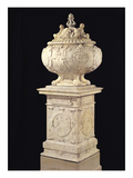 Funerary Urn Containing the Heart of Francois I (1494-1547) 1556 (Marble) Giclee Print by Pierre Bontemps