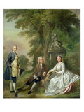 Jonathan Tyers (D.1767) and His Daughter, Elizabeth, and Her Husband, John Wood, C.1750-52 Giclee Print by Francis Hayman