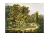 Temple, Fountain and Cave in Sezincote Park, 1819 Giclee Print by Thomas Daniell