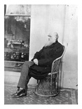 Charles Darwin (B/W Photo) Giclee Print by Captain L. Darwin