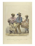 Band of the Jaw-Bone John-Canoe, Illustration from 'sketches of Character...', 1837 (Colour Litho) Giclee Print by Isaac Mendes Belisario