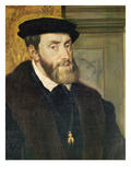 Detail of Seated Portrait of Emperor Charles V (1488-1576) 1548 Giclee Print by  Titian