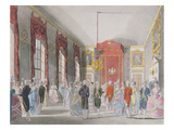 Drawing Room, St. James's, Engraved by John Bluck (Fl.1791-1819) Giclee Print by T. Rowlandson