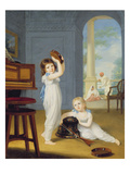Emily and George Mason, C.1794-95 (Oil on Canvas) Giclee Print by Arthur William Devis