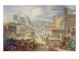 A Scene in Ancient Rome, a Setting for Titus Andronicus, Act I, Scene 3, C.1830 Premium Giclee Print by Joseph Michael Gandy