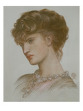 Portrait of Aglaia Coronio (Nee Ionides) 1870 (Chalk on Paper) Giclee Print by Dante Charles Gabriel Rossetti