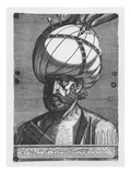 Suleiman the Magnificent, 1557 (Engraving) Giclee Print by Melchior Lorck