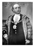 Sir James Whitehead, Lord Mayor of London, C.1888-9 (B/W Photo) Giclee Print by  English Photographer
