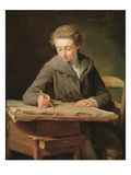 The Young Draughtsman, Carle Vernet, 1772 Giclee Print by Nicolas-bernard Lepicie