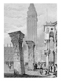 St. Mark's Square, Venice, Engraved by Edward John Roberts (Engraving) Giclee Print by Samuel Prout