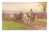 When the Day's Work Is Done (W/C on Paper) Giclee Print by Charles James Adams