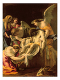 The Entombment (Oil on Panel) Giclée-Druck von Simon Vouet