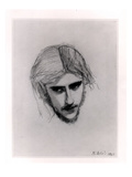 Study for the Head of Ferdinand for 'Ferdinand Lured by Ariel', 1849 (Graphite on Paper) Premium Giclee Print by John Everett Millais
