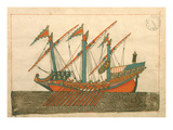 Ms. Cicogna 1971, Miniature from the 'Memorie Turchesche' Depicting a Turkish Galley Giclee Print by  Venetian