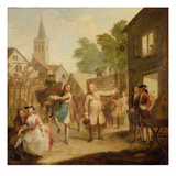 Hob Continues Dancing in Spite of His Father, c.1726 Giclee Print by John Laguerre