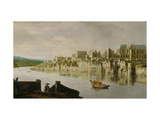 The Thames at Westminster Stairs, C.1630 (Oil on Panel) Reproduction proc&#233;d&#233; gicl&#233;e par Claude de Jongh
