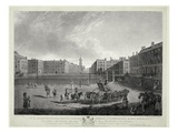 View of Hanover Square, Engraved by Robert Pollard (1755-1838) and Francis Jukes (1747-1812) 1787 Giclee Print by Edward Dayes