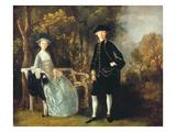 Lady Lloyd and Her Son, Richard Savage Lloyd, of Hintlesham Hall, Suffolk, C.1745-46 Giclee Print by Thomas Gainsborough