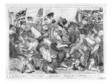 The Massacre of Peterloo! or a Specimen of English Liberty, August 16th 1819 (Etching) (B&W Photo) Giclee Print by J.l. Marks